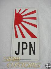 JAPANESE RISING SUN FLAG, JDM CAR ALUMINIUM STICKER EMBLEM LOGO BADGE