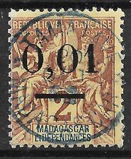 MADAGASCAR TYPE GROUPE SURCHARGE N° 51 II GROS ZEROS JOLI CACHET BLEU