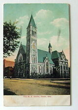 1907 Postcard First M E Church Canton Ohio Old Vintage pdfr