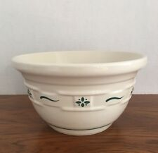 """Lovely Longaberger Woven Traditions Heritage Green 8 1/8"""" Mixing Bowl"""