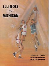 University of Illinois vs Michigan Wolverines 1968 College Basketball program