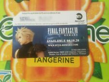 Final Fantasy VII Remake Playstation 4 Metrocard Expired Collectible Limited
