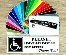 Please Leave At Least 3m Disabled Mobility Car Sticker Vinyl Decal Adhesive BLCK