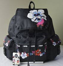 LeSportsac Disney Mickey Minnie Mouse Hula Hibiscus 7839 Voyager Backpack