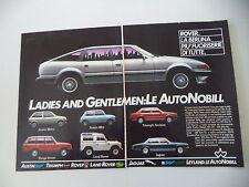 advertising Pubblicità 1983 ROVER/LAND/RANGE/AUSTIN METRO/MINI/TRIUMPH ACCLAIM