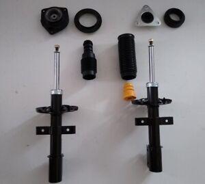2 Gasdruck Stoßdämpfer Renault Clio 3 Domlager Staubschutz vorne VA