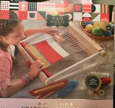 Fao Schwarz 8-Piece Craft Weaving Loom Kit Genuine Wood Loom New retail 79