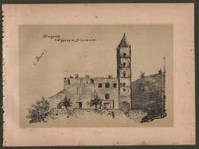 Liguria Savona. Altare S. Annunziata. Veduta generale. Litografia circa 1890