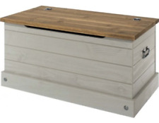 CORONA MEXICAN GREY WASHED PINE STORAGE CHEST / BLANKET BOX / OTTOMAN / TOY BOX