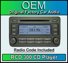VW RCD 300 CD player Golf MK5 car stereo head unit Supplied with radio code