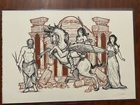 JM DRAGUNAS WONDER WOMAN ORIGINAL ART