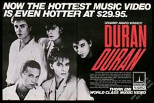 1984 Duran Duran Big photo Thorn Emi vintage music trade print ad