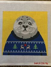 Handpainted needlepoint canvas by Danji
