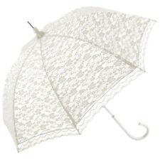 Romantica paraguas de boda de encaje-Blanco