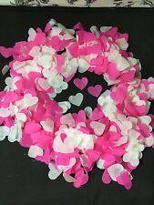biodégradable mariage CONFETTI ROSE VIF & Blanc Cœurs Eco jusqu'à 5 cône