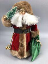 "Santa Claus Figure Christmas Tree Topper Table Top Display 8"" Bottle Brush Gift"