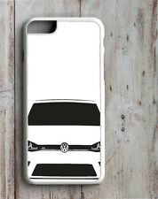 VW MK7 Golf R IPHONE FUNDA encaja 4 4S 5 5S 5C 6 6S SE 7 & GTI R32 DUB PLUS