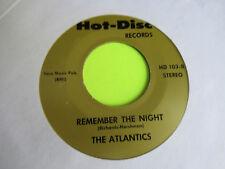 "THE ATLANTICS REMEMBER THE NIGHT / JULIE STEVENS BLUE MOOD  45 7"" EX"