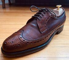 Hudsons's Bay HBC Brown Pebbled Prairie Oxhide Wingtip Shoes 10D EUC Dack's