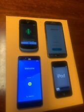 Lot of 5 Android phones, iPhone 4s, iPod Touch 4th generation, and iPod Nano 5th