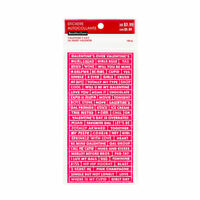 Embossed Word Stickers 198 pc By Recollections™ 536141 NEW