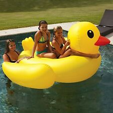 Giant Pool Float Rubber Duck Duckie 2 Person Raft Lounger Lake Toy
