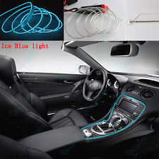 1x 3m Nice Ice Blue Neon LED Light Glow Strip Car Interior Decor Console For BMW