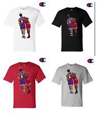 Kobe Bryant Michael Jordan CHAMPION Shirt Los Angeles Lakers Sizes S-3XL