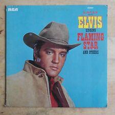 """Elvis Presley Elvis Singing """"Flaming Star""""... 1968 Vinyl LP RCA Victor PRS-279"""