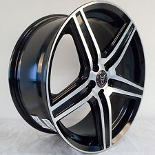"18"" WOLFRACE BLACK POLISHED ALLOY WHEELS 5X120 FITS VW TRANSPORTER T5 & TOUAREG"