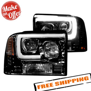 Recon 264193BKC LED Projector Headlights for 2005-2007 Ford F-Series Super Duty