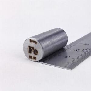 Iron Metal Rod 99.95% 12grams 10 diameter x 20mm length Element Fe specimen