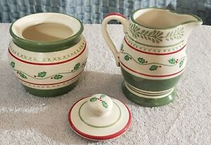 Pfaltzgraff 'Circle Of Kindness: Merriweather Christmas' Creamer/Sugar Bowl/lid