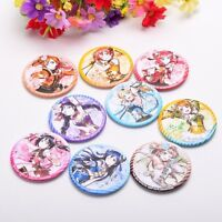 9pcs Love Live Girl's Character Badges Pin Back Anime Collection Cosplay Props