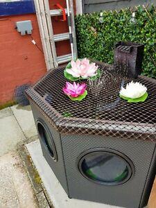 Blagdon Affinity Mocha Halfmoon Complete Pond Garden Deck / Patio Kit