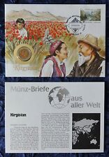Numisbrief - Kirgistan / Kyrgyzstan - mit  Münze (siehe Foto) - 1993