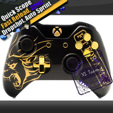 CUSTOM GOLDEN LION PEARL BLACK RAPID FIRE XBOX ONE MODDED CONTROLLER COD AW BO3