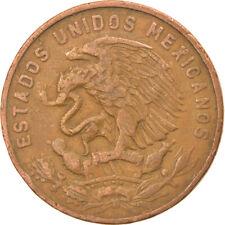 [#815107] Coin, Mexico, 20 Centavos, 1955, Mexico City, EF(40-45), Bronze