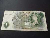 1963  HOLLOM ONE POUND REPLACEMENT NOTE M08N FINE, USED, DUGGLEBY REF.B293