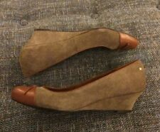 Nwob Rockport Wedges Womens Size 10.5 Suede/Leather A12