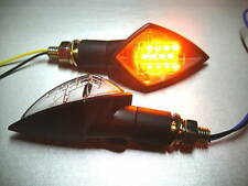 ►4X BMW K75RT,K100LT/RT,R1200CL,R1200C,R80R LED MINIBLINKER GHOST SCHWARZ E-MARK