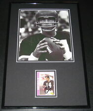 Ken Kenny Anderson Signed Framed 11x17 Photo Display Bengals