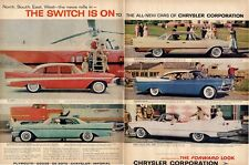 1957 Chrysler PRINT AD New Yorker Imperial Convertible Belvedere DeSoto Royal