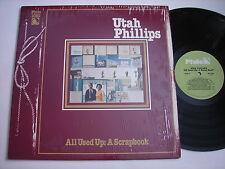 SHRINK Utah Phillips All Used Up: A Scrapbook 1987 LP VG++