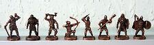 Lot of 8 SOLDIERS VIKINGS Metal Figures CHOCOLATE EGG KINDER SURPRISE Free Shipp
