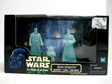 NIB Hasbro Star Wars POTF Jedi Spirits Action Figure Set Cinema Scenes 1998