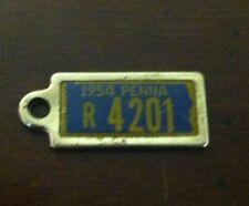 1954 PENNSYLVANIA Mini License Plate D.A.V. Key Chain Fob (R 4201)