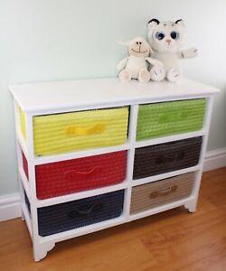 Multicoloured 6 Drawer Storage Unit