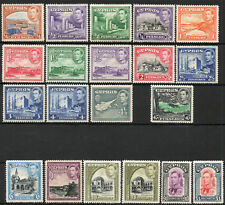Cyprus 1938 KGVI set of mint stamps value to £1  Mint Hinged