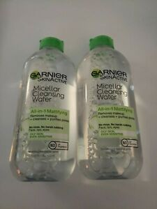 Garnier SkinActive Micellar Cleansing Water All-in-1 Mattifying remover Lot of 2